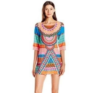 Laundry by Shelli Segal Medallion Tunic Cover Up